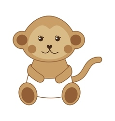 cute monkey isolated icon design vector image