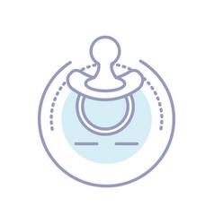 Cute pacifier baisolated icon vector
