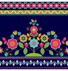 Decorative seamless floral border vector image vector image