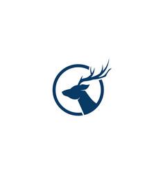 deer logo template vector image