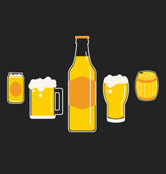 Drink of beer vector