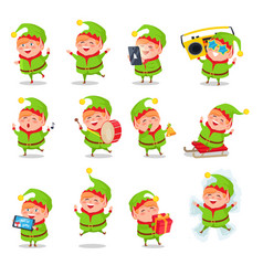 elf collection of activities vector image