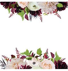 Floral design square card design pink rose vector
