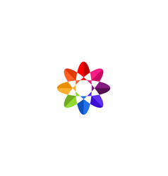 flower abstract colorful logo design concept vector image