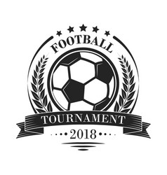 football tournament logotype or emblem in retro vector image