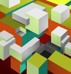 Geometrical colors shaped vector