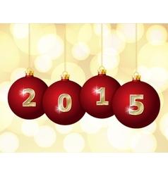 Glass Christmas Balls 2015 vector image