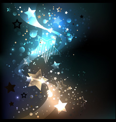 glowing blue stars vector image