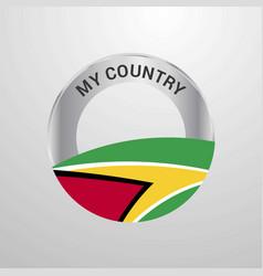 guyana my country flag badge vector image