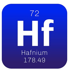 Hafnium chemical element vector