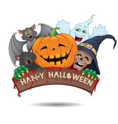 Happy Halloween fun banner vector image