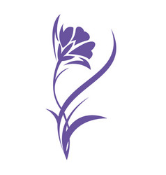 Iris flower logo design vector