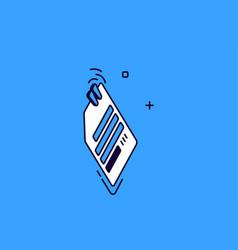 isometric paper clip attachment icon office stuff vector image
