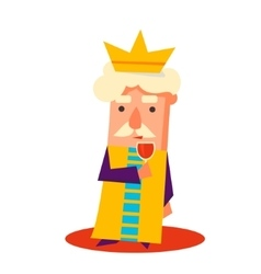 King Cartoon Emotion Set vector