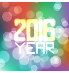 label for the new 2016 blurred color vector image
