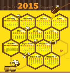 Litle bee calendar 2015 vector
