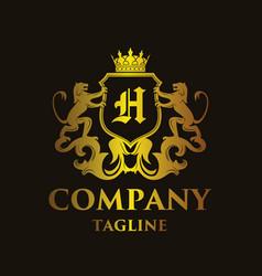 Luxury letter h logo vector