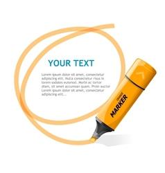 Marker text box vector