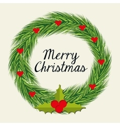 Merry christmas colorful card design vector