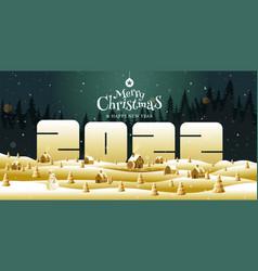 Merry christmas happy new year 2022 vector