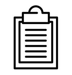 Oculist form icon outline style vector