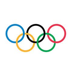 Olympic rings games logo editorial vector