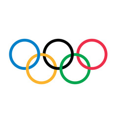 Olympic rings olympic games logo editorial vector