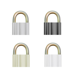 pad lock in on white background vector image