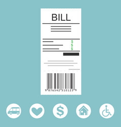 paying bill concept vector image