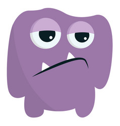 Purple angry monster or color vector
