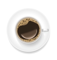 Realistic Cup of Black Coffee vector