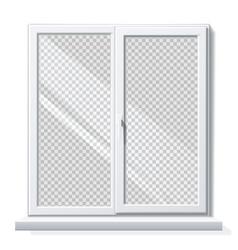 realistic pvc window white blank mockup vector image