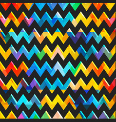retro colored zigzag seamless texture vector image