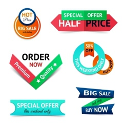 sale discount origami banners vector image