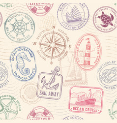sea journey vintage texture vector image