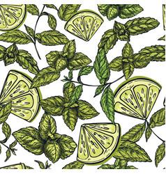 seamless mojito pattern vector image