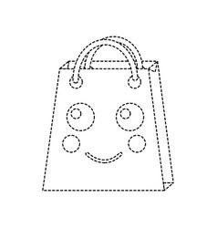 Shopping bag happy emoji icon image vector