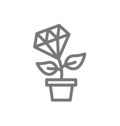 simple plant growth from diamond and money tree vector image
