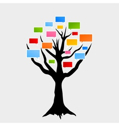 speaking tree vector image vector image