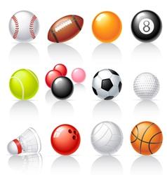 Sport equipment icons vector