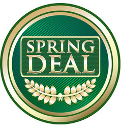 Spring deal icon vector