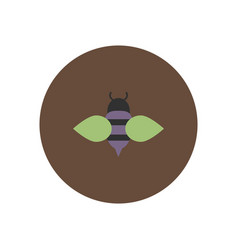 Stylish icon in color circle honey bee vector
