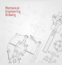 Technical drawing background mechanical vector