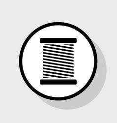 Thread sign flat black icon vector