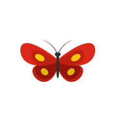 Tiny butterfly icon flat style vector
