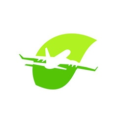 Transportation airplane traveling plant vector