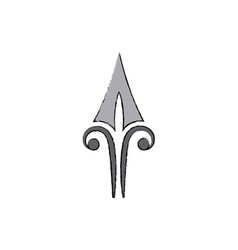 Vintage arrowhead boho ethnic style vector