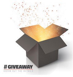 giveaway competition template open box vector image