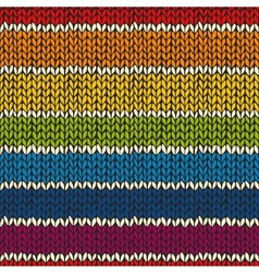 Sea mless pattern with knitted stripes vector image vector image