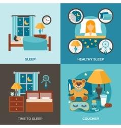 Sleep Time Flat vector image